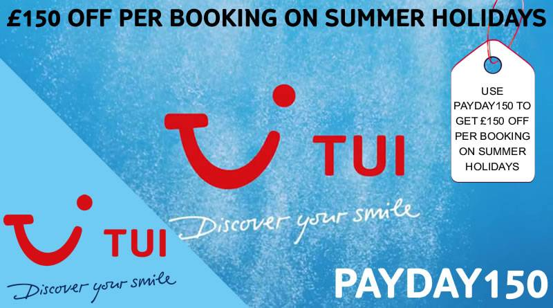 Save £150 per booking on summer 2019 holidays departing between 1st May 2019 and 31st October 2019 with code PAYDAY150